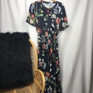 Ann Taylor Culottes Jumpsuit Wildflower